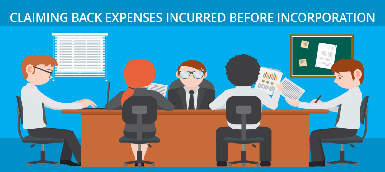 Claiming Back Expenses Incurred before Incorporation