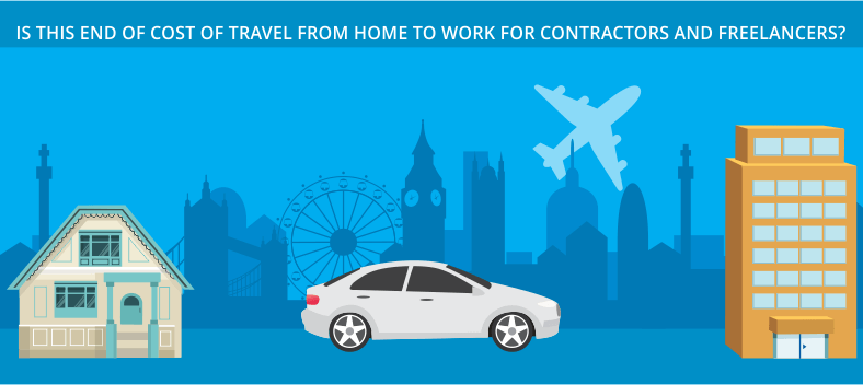 Cost of travel from home to work for contractors and freelancers