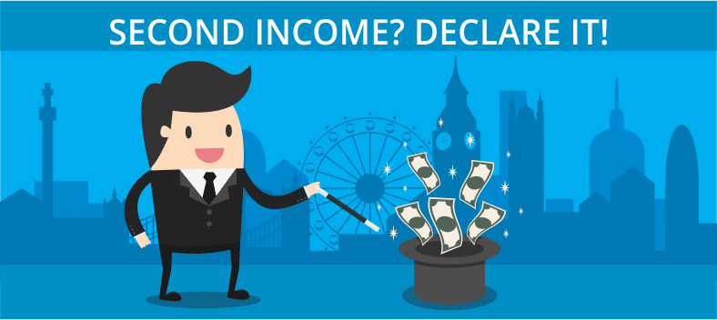Declare your second income