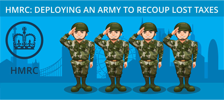 Deploying an army to recoup lost taxes
