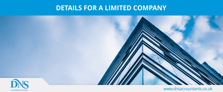 Details for a Limited Company