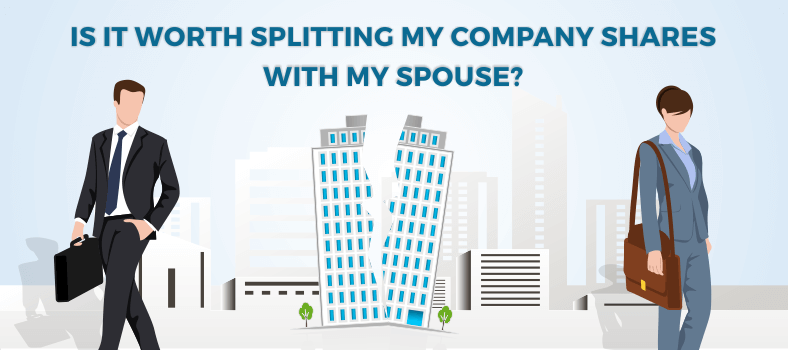 Splitting my company shares with my spouse
