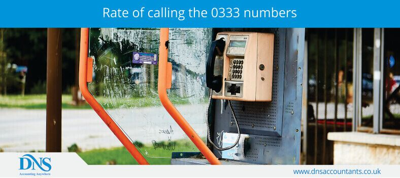 Rate of calling the 0333 numbers