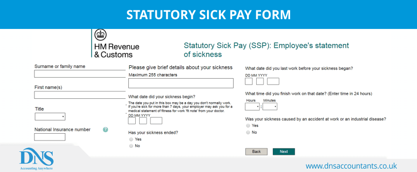 Statutory Sick Pay Form