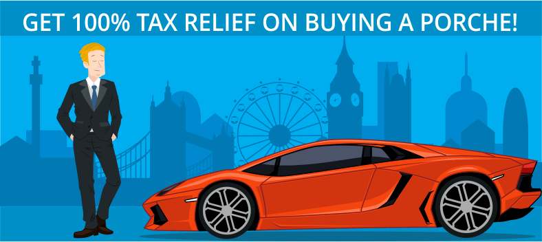 Tax relief on buying a porche