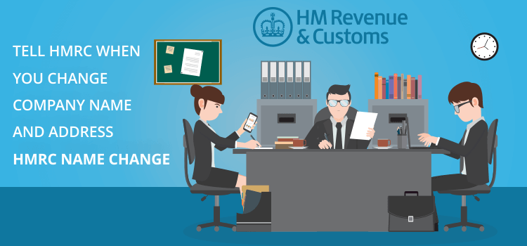 Tell HMRC you change company name and address