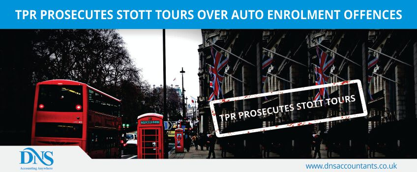 TPR Prosecutes Stott Tours over Auto Enrolment Offences