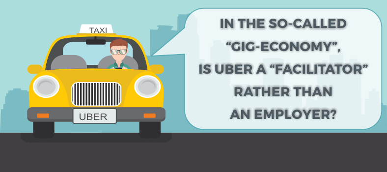 Uber a facilitator rather than an employer