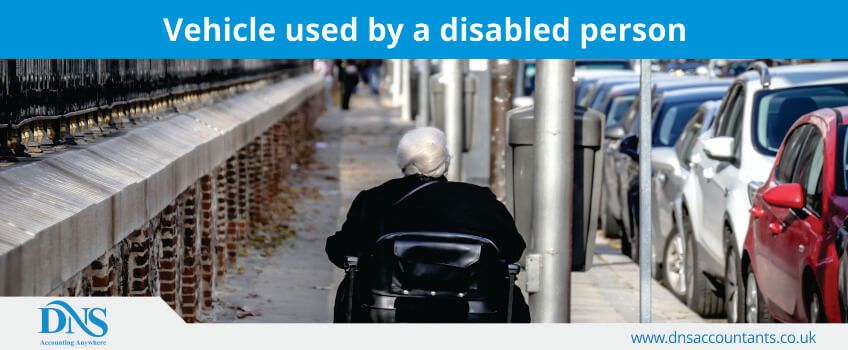 vehicle used by a disabled person