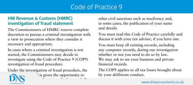 Code of Practice 9