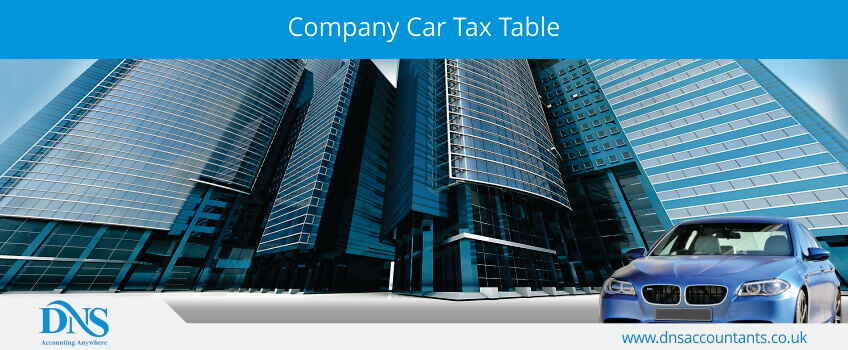 Company Car Tax Table
