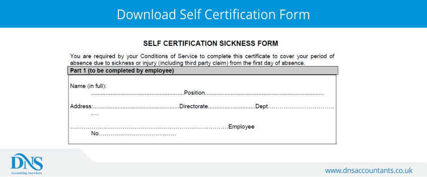 Download Self Certification Form