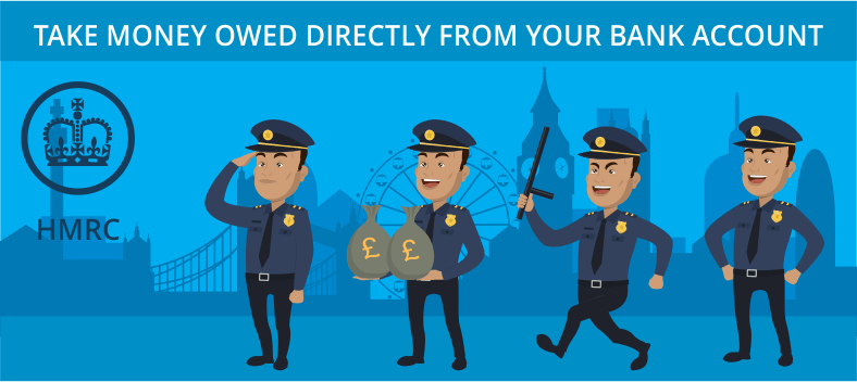 Take money owed directly from your bank account