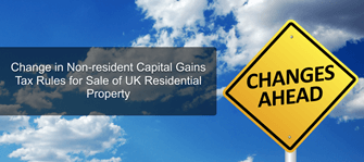 How does Change in Non-resident Capital Gains Tax Rules affect non-resident UK commercial property owners?