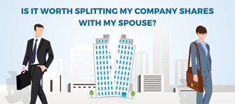 Splitting company shares with spouse