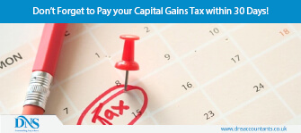 Don't Forget to Pay your Capital Gains Tax within 30 Days!