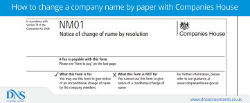 Change Of Company Name By Paper