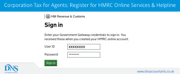 Corporation Tax for Agents: Register for HMRC Online Services & Helpline
