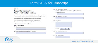 Download Form EX107 for Receiving Court Transcript