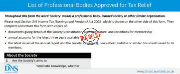 List of Professional Bodies Approved for Tax Relief