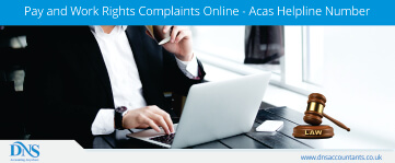 Pay and Work Rights Complaints Online - Acas Helpline Number