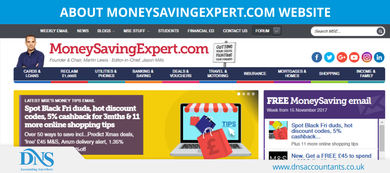 MoneySavingExpert.com Website