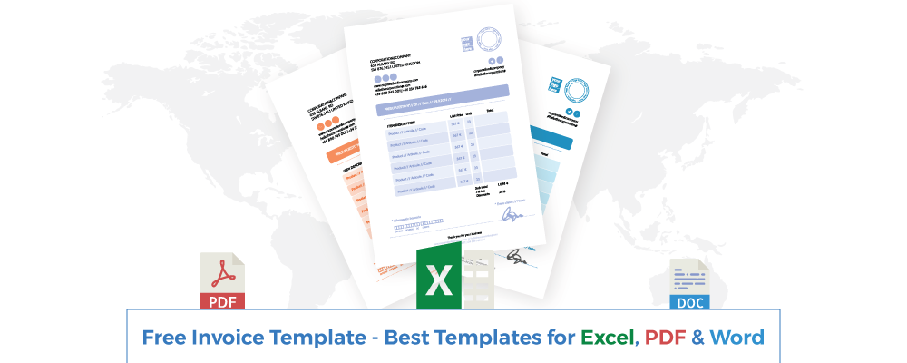 Free Invoice Template - Best Templates for Excel, PDF & Word