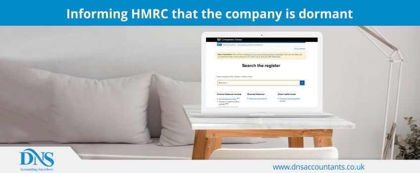 Informing HMRC that the company is dormant