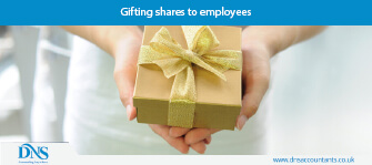 Gifting shares to employees