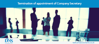 Termination of appointment of Company Secretary