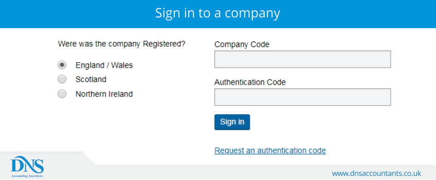 Sign in to a company