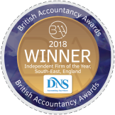 British Accountancy Award Winner 2018
