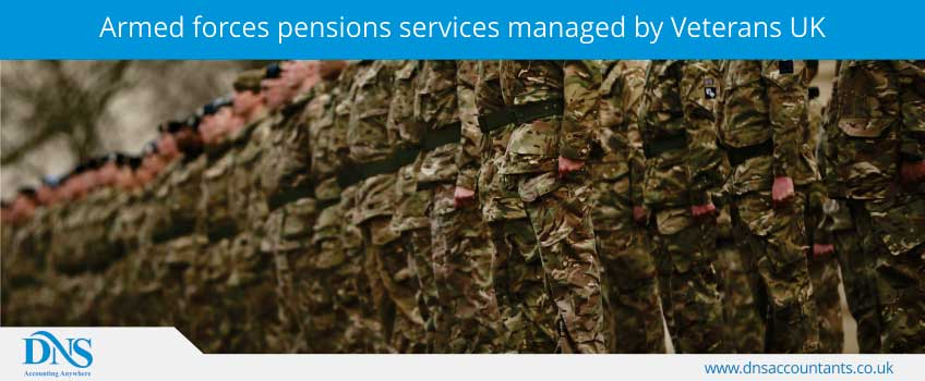 Armed forces pensions services managed by Veterans UK