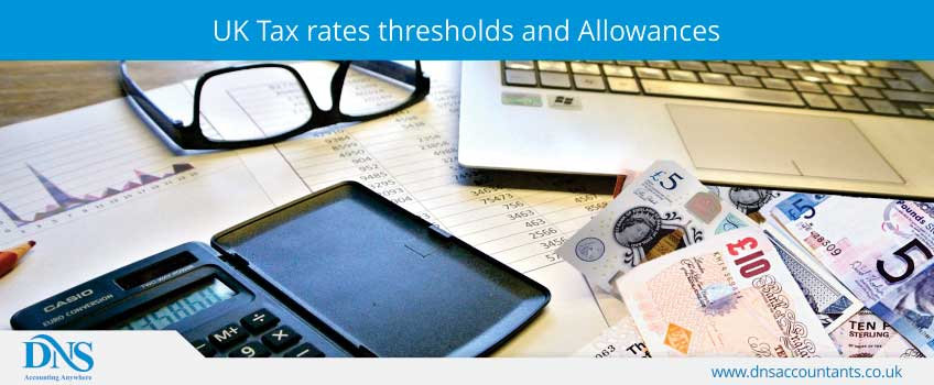 UK Tax rates thresholds and allowances