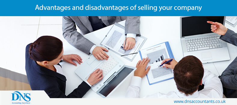 Advantages and disadvantages of selling your company