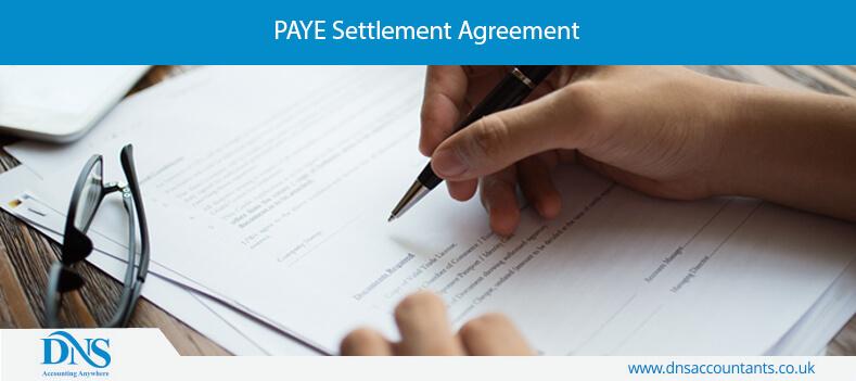 PAYE Settlement Agreement