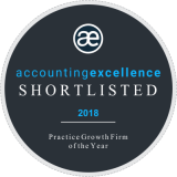 Shortlisted at the 2018 Accounting Excellence Awards