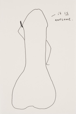 it IS awesome, 2012, Ink on paper, 8