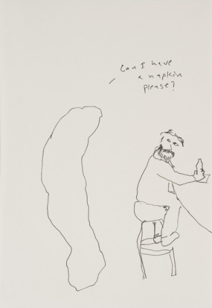 Turd walks into a bar, 2012, Ink on paper