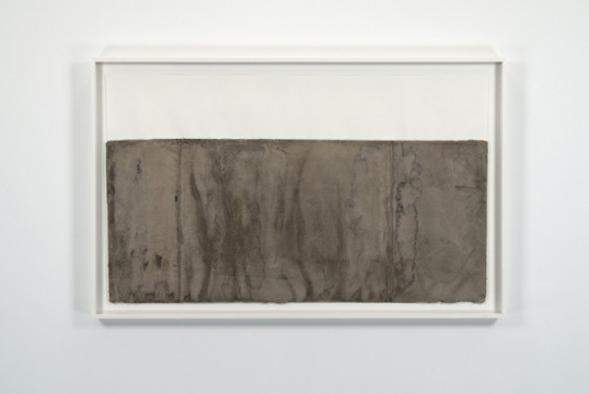 "The other side, 2009, Concrete on paper, 41"" x 56"" x 3"""