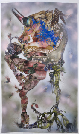 This you call Civilization?, 2008, Mixed media, ink, collage, contact paper on Mylar, 98, Transformation AGO, November 13, 2008 - 2009, Toronto, Canada