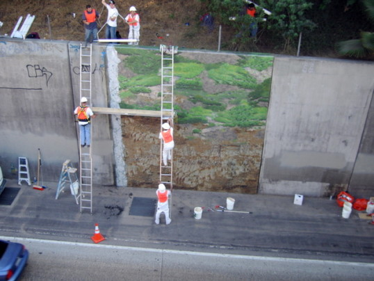 Fwy Wall Extraction, 2006, Installation view