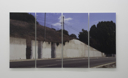 "What if walls vanished from the freeway, would it make a sound?, 2007, Lenticular print mounted on Diebond, Edition of 3 + 2 AP, 48"" x 96"" (4 panels, each 48"" x 24"")"