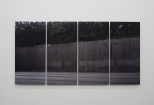 "What if walls created spaces?, 2007, Lenticular print mounted on Diebond, Edition of 3 + 2 AP, 48"" x 96"" (4 panels, each 48"" x 24"")"