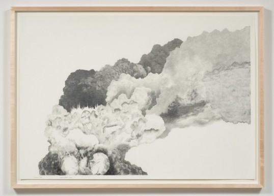 Explosion # 22, 2008, Graphite on paper, Diptych, 30