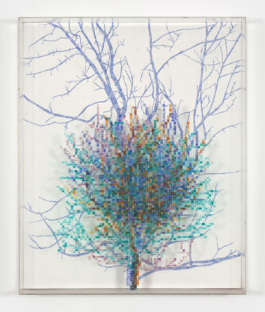 "Charles Gaines, ""Numbers and Trees II, # 4 Spike"", 1987"