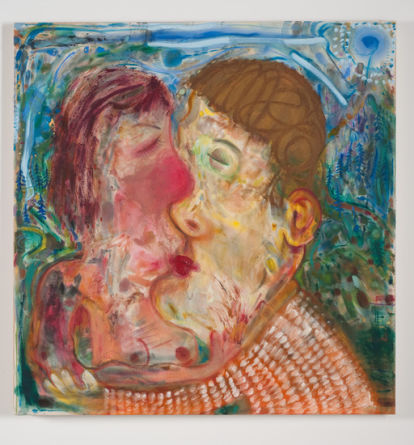 "NICOLE EISENMAN, ""Springtime Kiss"", 2011, Oil on canvas, 40"" x 41"""