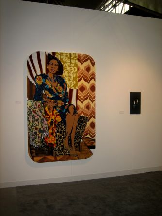 Installation view (Mickalene Thomas, Robert Olsen)