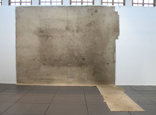 "Rodney McMillian, ""Untitled"", 2005, Carpet, 11.5' tall x 14' wide x 8' deep"
