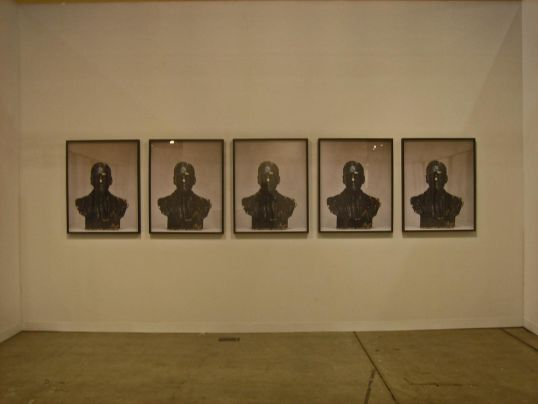 "Rodney McMillian, ""Unknown # 20 - 25"", installation view"
